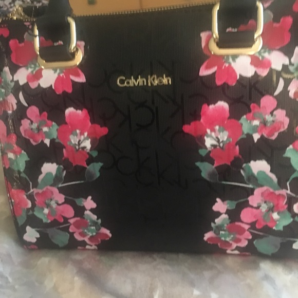 639cffbe2a6 Calvin Klein Bags   Satchel Bag New   Poshmark calvin klein black purse  with pink flowers